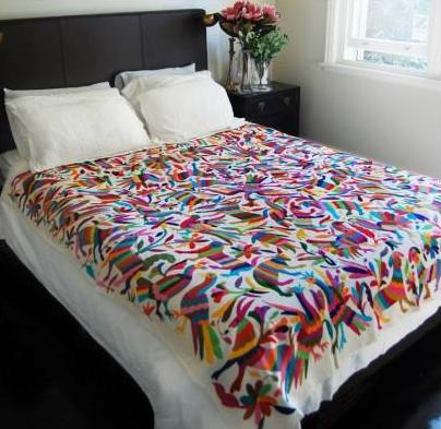Luckybydesign otomi madness Mexican embroidered bedding