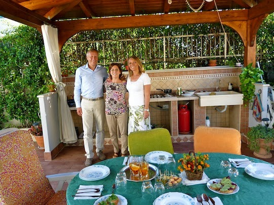 Nonna Lina's outdoor kitchen in Rome
