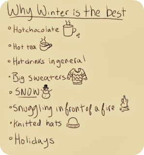 a list of reason why winter is awesome
