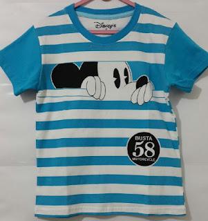 Baju Anak Karakter Mickey Mouse Salur Size 1 - 6 Tahun