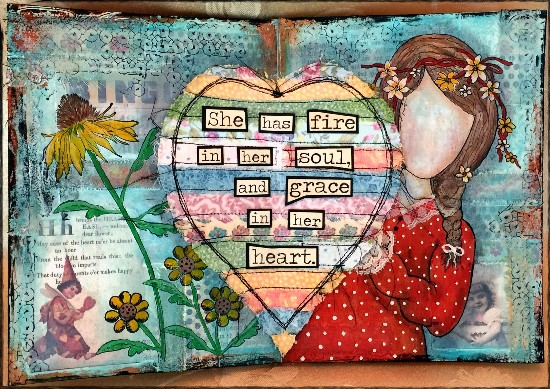 Inky Art Journal Pages for Yvonne Blair Blog Hop
