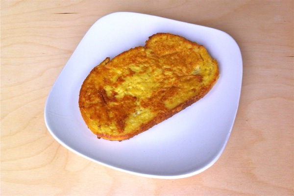 French Toast made with The Vegg vegan egg yolk