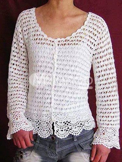 Free Crochet Patterns Ladies Jumpers : MODELOS DE CHALECOS, REMERAS Y CHAQUETAS A CROCHET ...