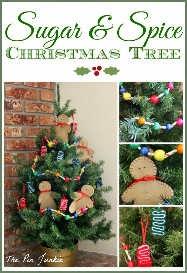 sugar & spice Christmas tree felt ornaments