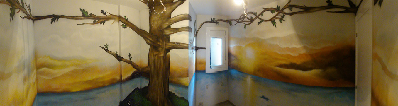 Berok graffiti mural profesional en barcelona mural for Como pintar un mural exterior