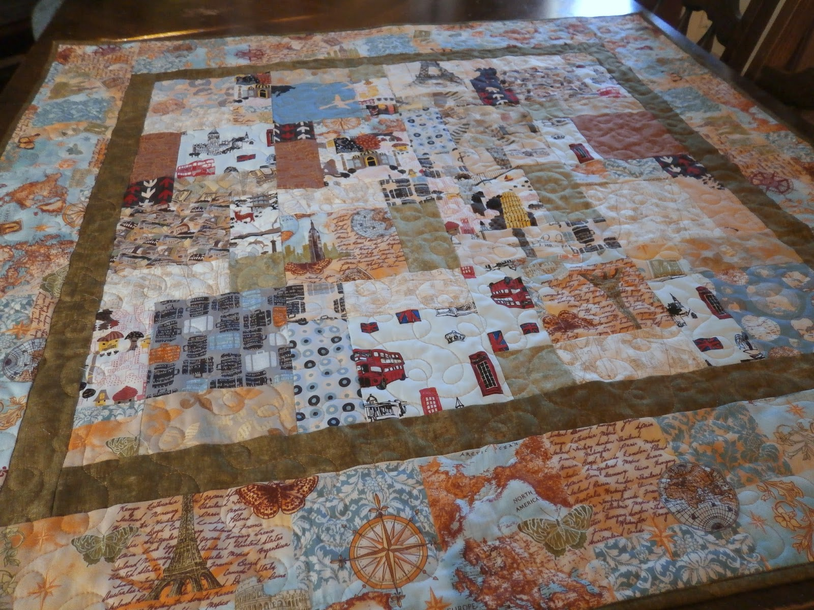 Pamelaquilts: Travel Theme Baby Quilt : theme quilts - Adamdwight.com