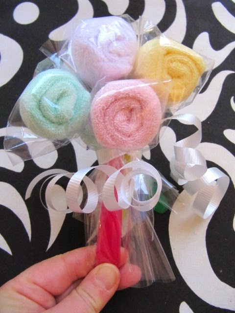 baby washcloth spoon lollipops