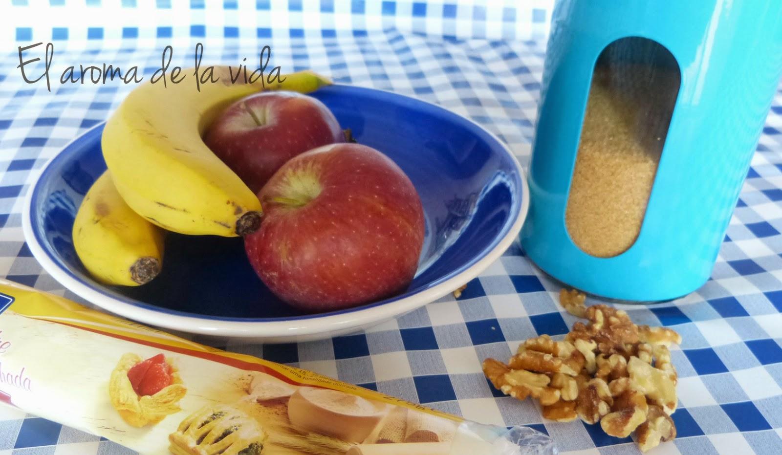 El Aroma de la Vida: Postre rapido: Hojaldre de manzana y