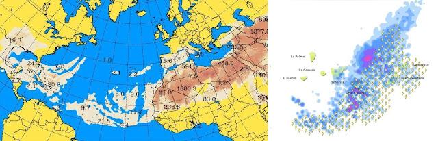 calima y tormenta eléctrica canarias 10 agosto