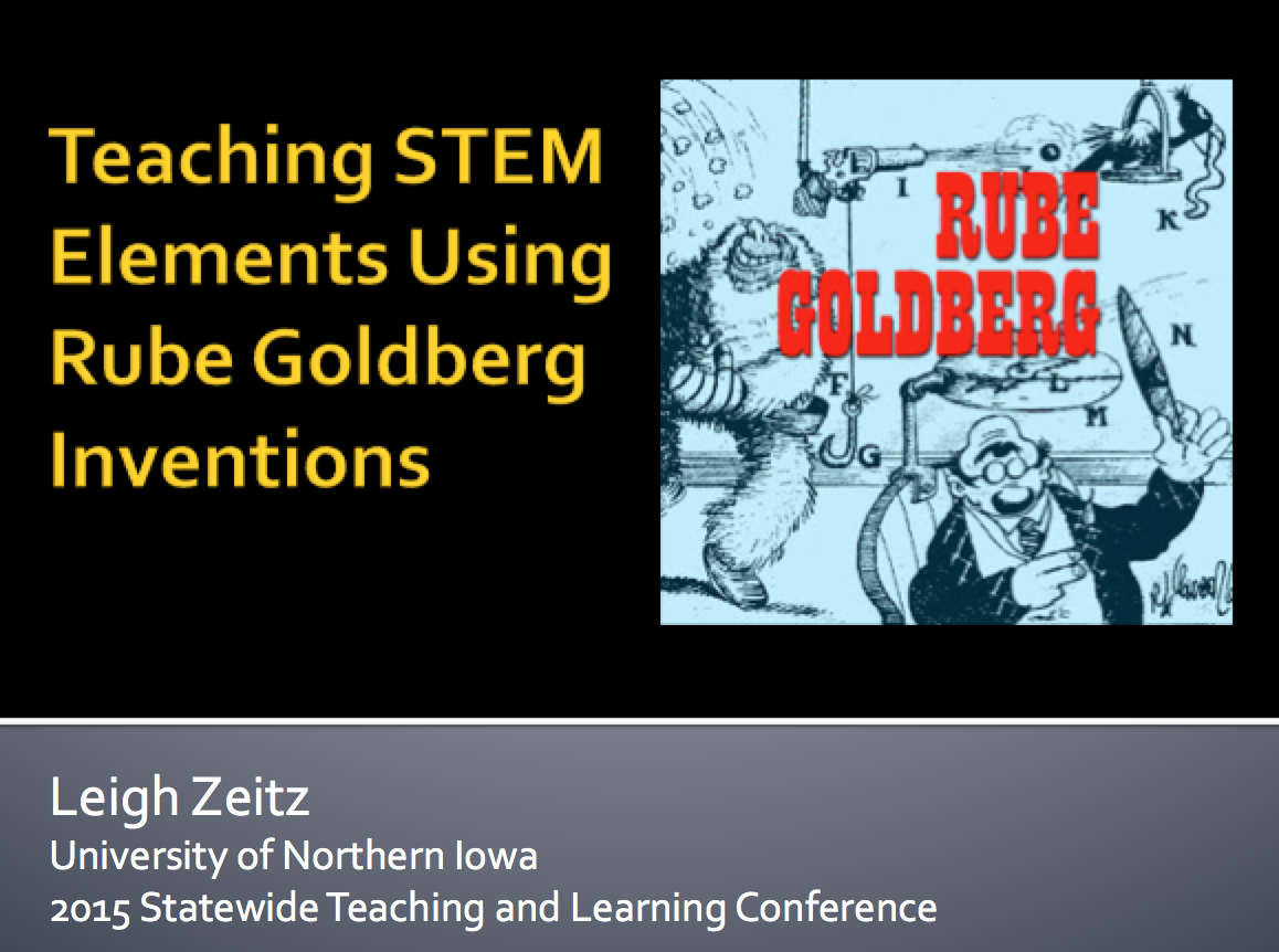 Rube Goldberg Title Page