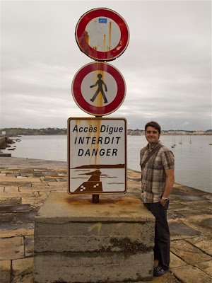 Acceso al dique de Fort Socoa