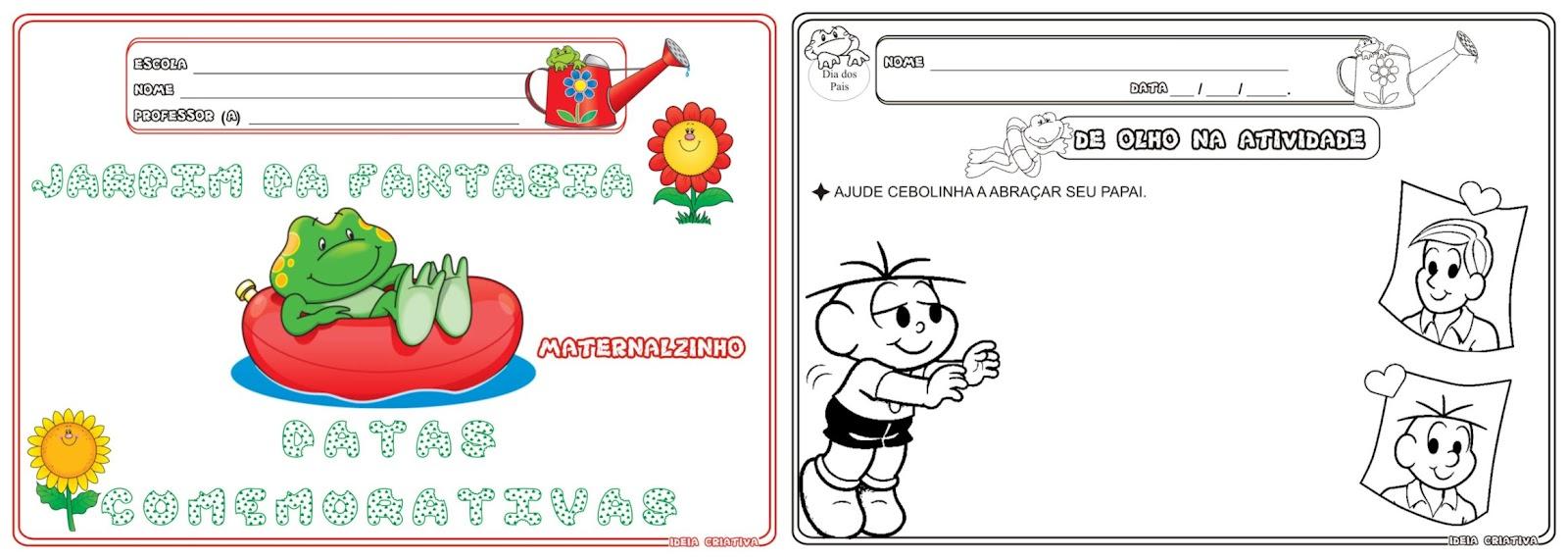 Caderno Jardim Da Fantasia Datas 2   Semestre Maternalzinho
