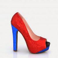 Pantofi dama rosii cu sclipici