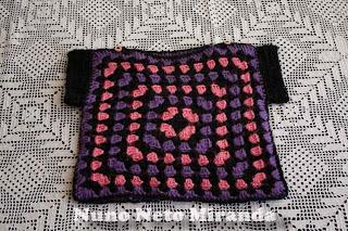 "alt=""crochet baby sweater, granny sweater, Ice Yarns Baby Wool Print, camisola em crochet para bebé, quadradinhos da avó"""