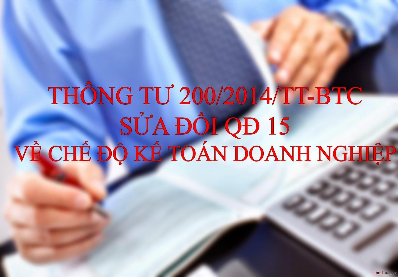 Thông tư 200/2014/TT-BTC