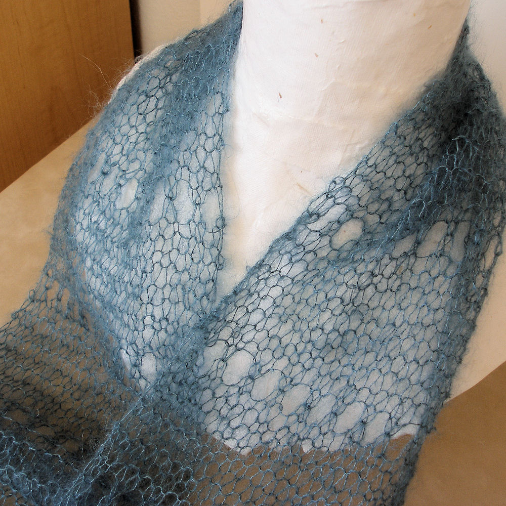 JeweledElegance: First Time Lace Knitting: Easy Pattern, Gorgeous Result