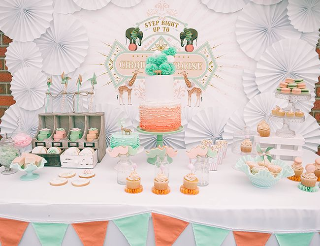 sweet table peche et mint | girlystan.com