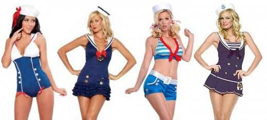 Disfraz casero de marinera sexy mini