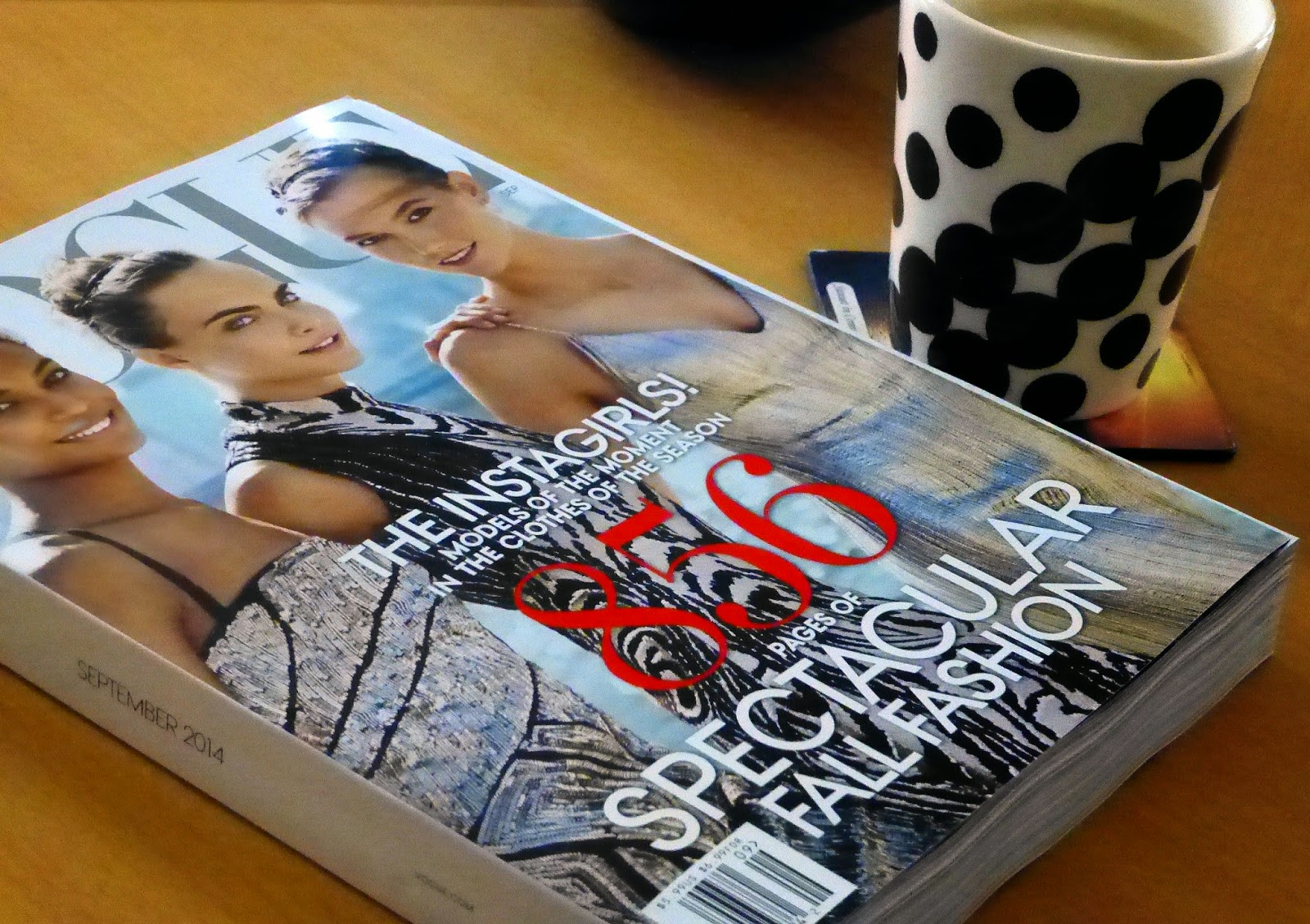 Vogue September 2014 and morning latte