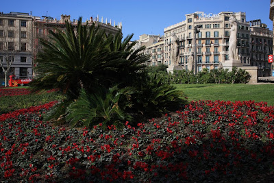 Plaça Catalunya in Barcelona