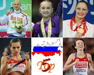Top 5 Russian Athletes of London Olympics 2012
