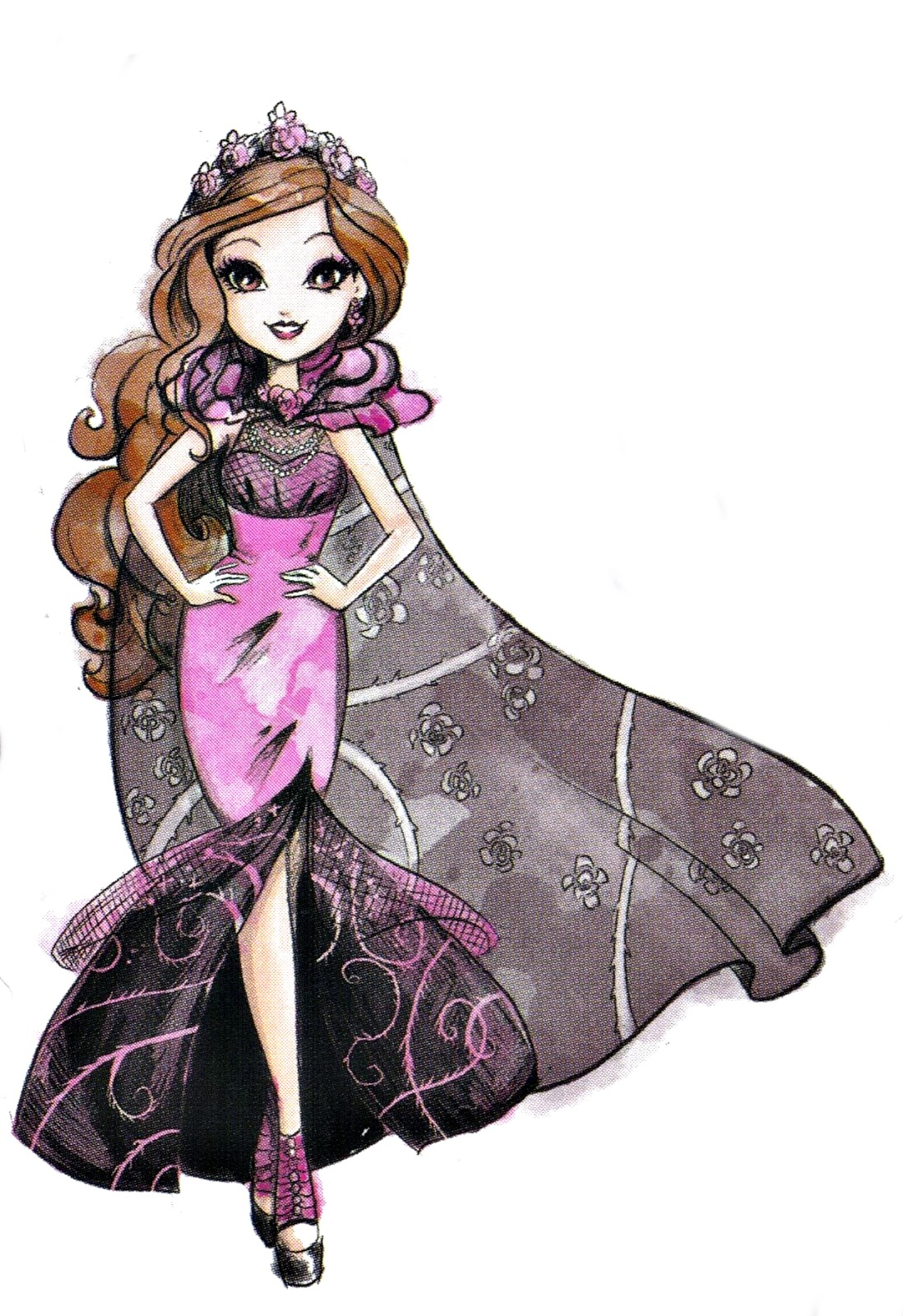 It is a graphic of Wild Pics of Ever After High