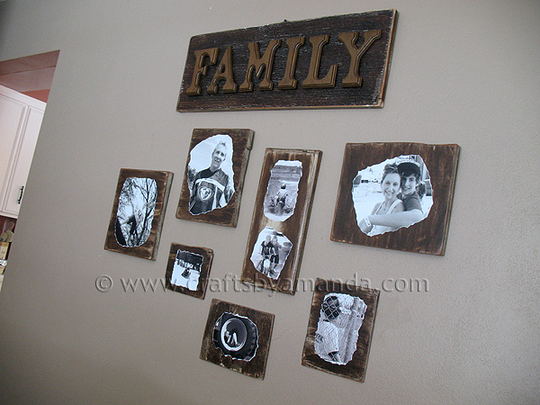 Decoupage Family Photo Plaques Crafts By Amanda