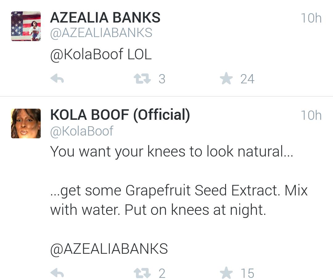 Kola Boof 2015 Kola Boof Saw Her Tweet And