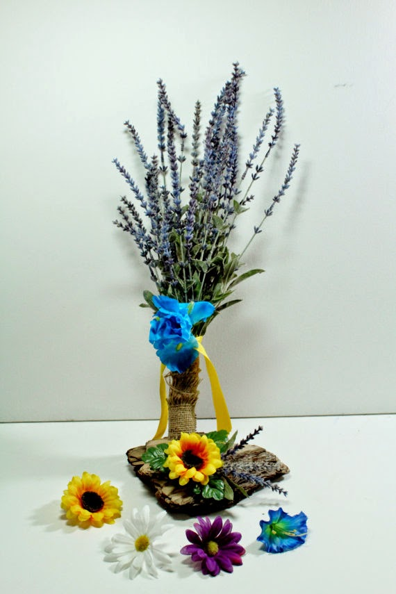 Customized Lavender Wedding Bouquet by Fabb Creations via http://www.prodigalpieces.com