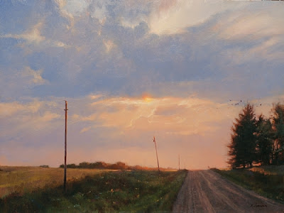 Chisago County Dusk  18x 24  Oil