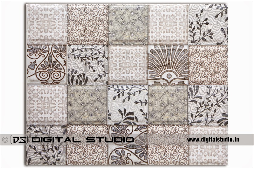 floral design industrial tile for factories