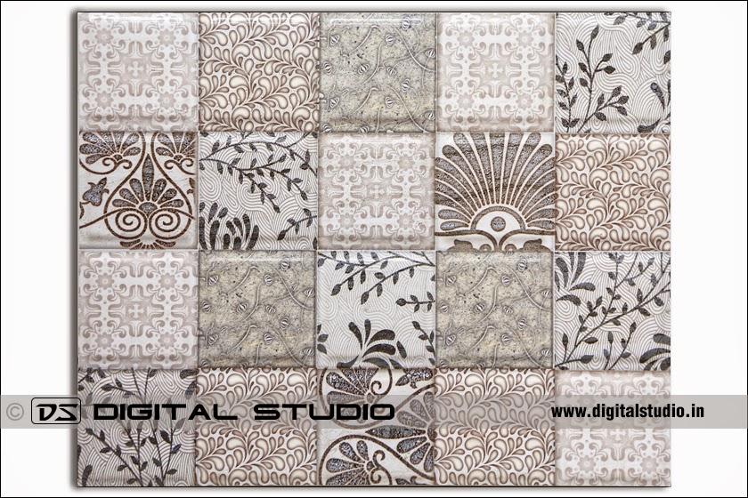 floral design industrial tile for factories