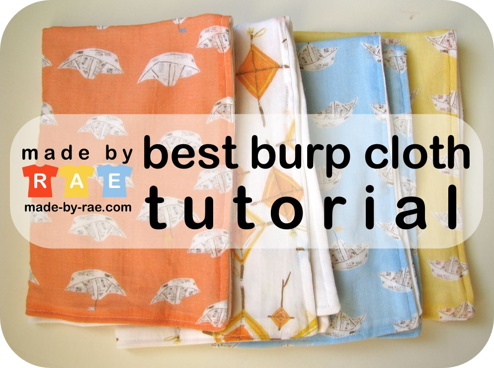 The Best Burp Cloths Made By Rae Fascinating Burp Cloth Pattern