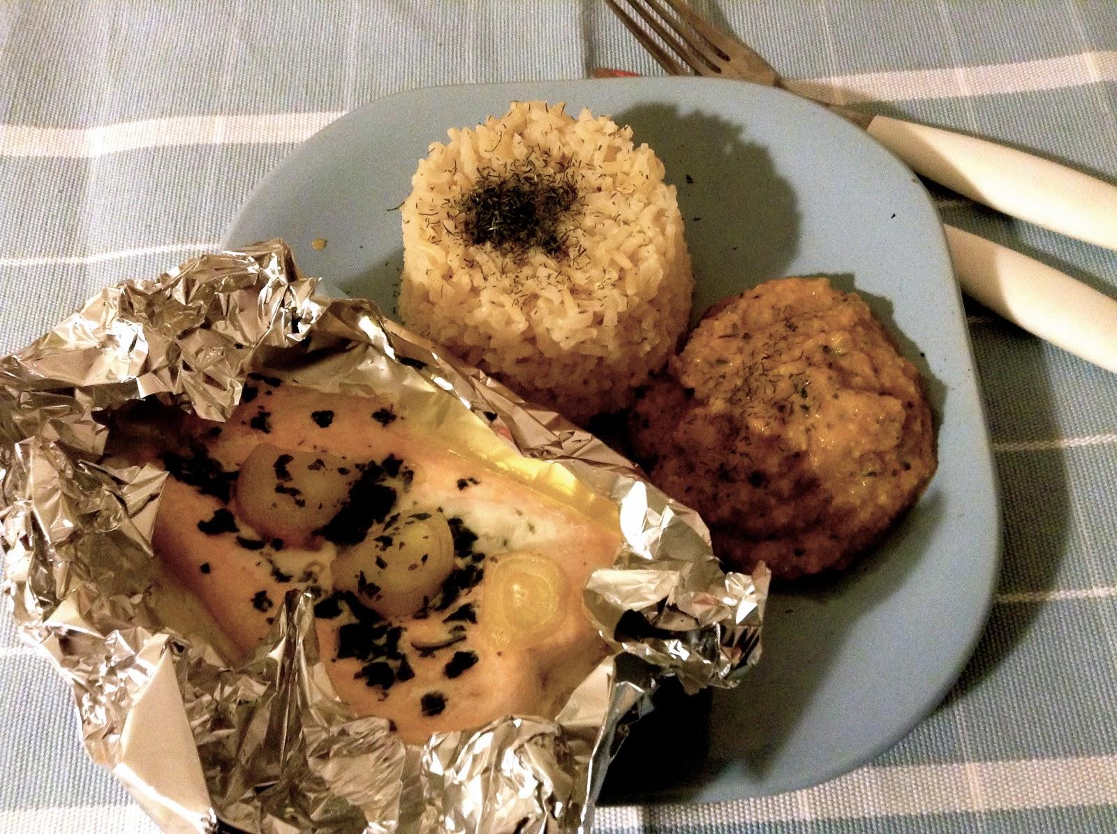 recettes de cigogne jour 30 papillote de saumon aux chalotes riz thai et son caviar de courgette. Black Bedroom Furniture Sets. Home Design Ideas