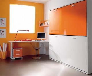 Litera abatible con escritorio incorporado - Literas para habitaciones pequenas ...