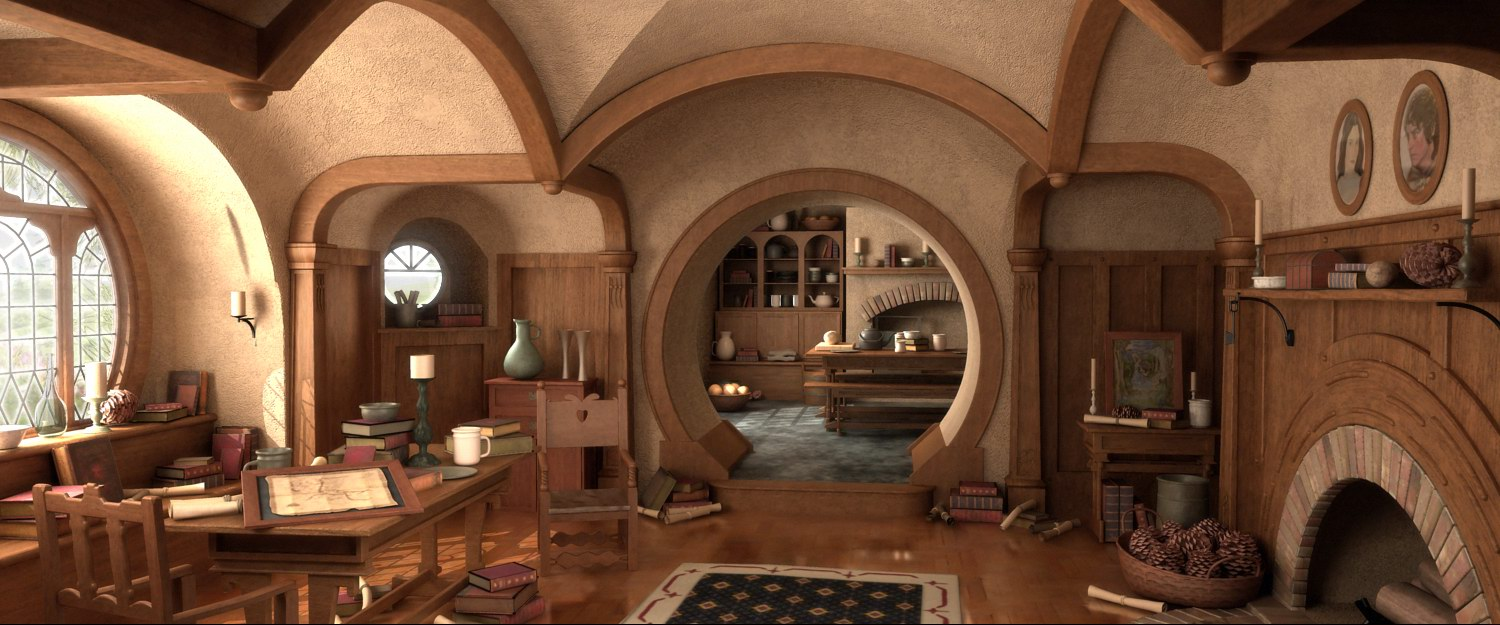 Bilbo Baggins Hobbit House Interior