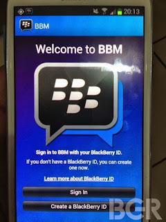 Tampilan BBM Untuk Android dan iPhone