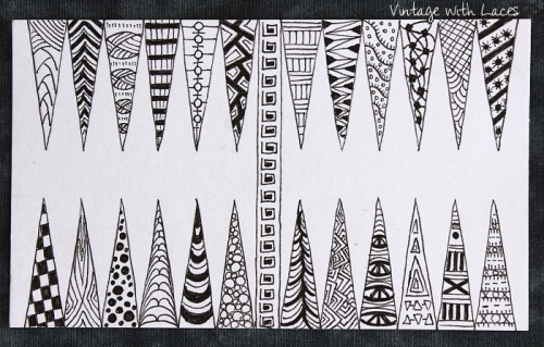 ICAD - Backgammon Doodles by Vintage with Laces