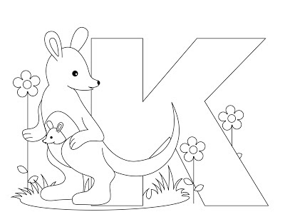 Animal Alphabet Letter K Coloring Pages