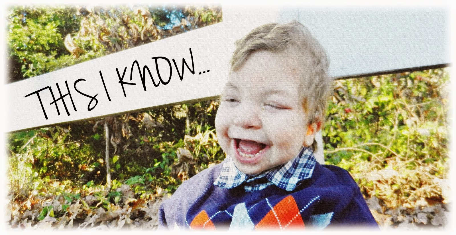 THIS I KNOW |  a mommy blog about our son with special needs