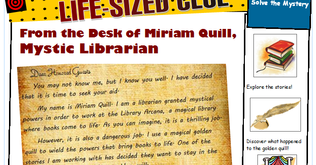Wandering Through Words Adventures In The Library Life Sized Clue