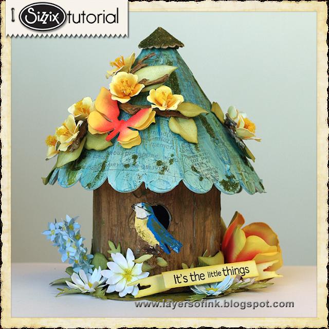 Sizzix Die Cutting Tutorial: Susan's Garden Birdhouse by Anna-Karin Evaldsson