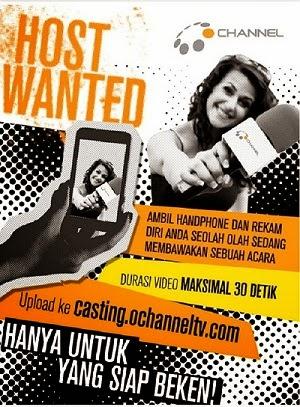 Casting Presenter O Channel TV Indonesia