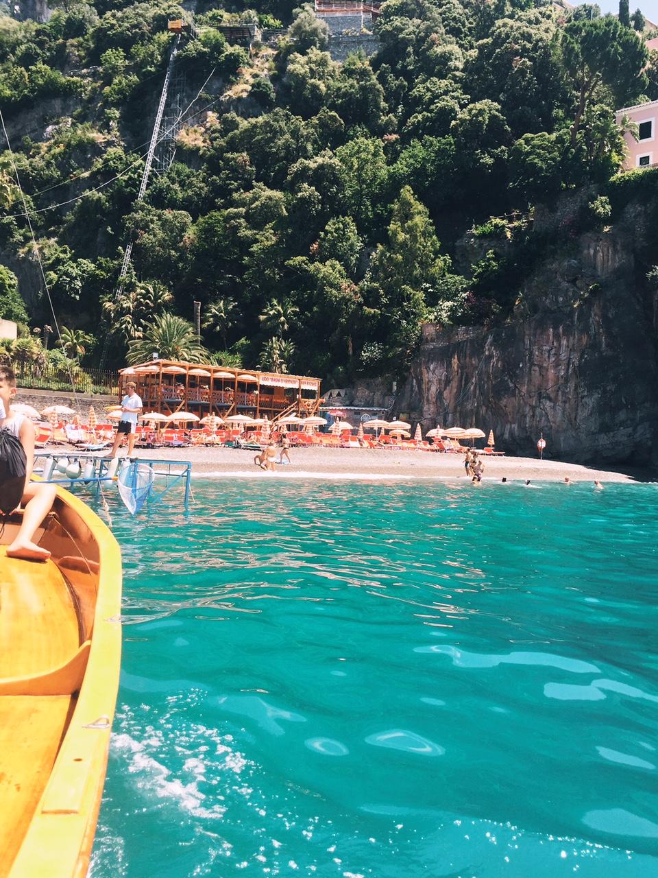 Arienzo Beach from Positano - Always, Erin