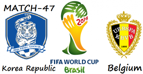 Korea Republic vs. Belgium live 2014 FIFA WORLD CUP