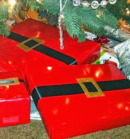 Опаковка на кутия за коледни подаръци като Дядо Коледа