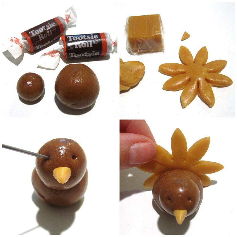 Tootsie RollCaramel Thanksgiving Cupcake Toppers Lindsay Ann Bakes - Cupcakes for thanksgiving decorating ideas