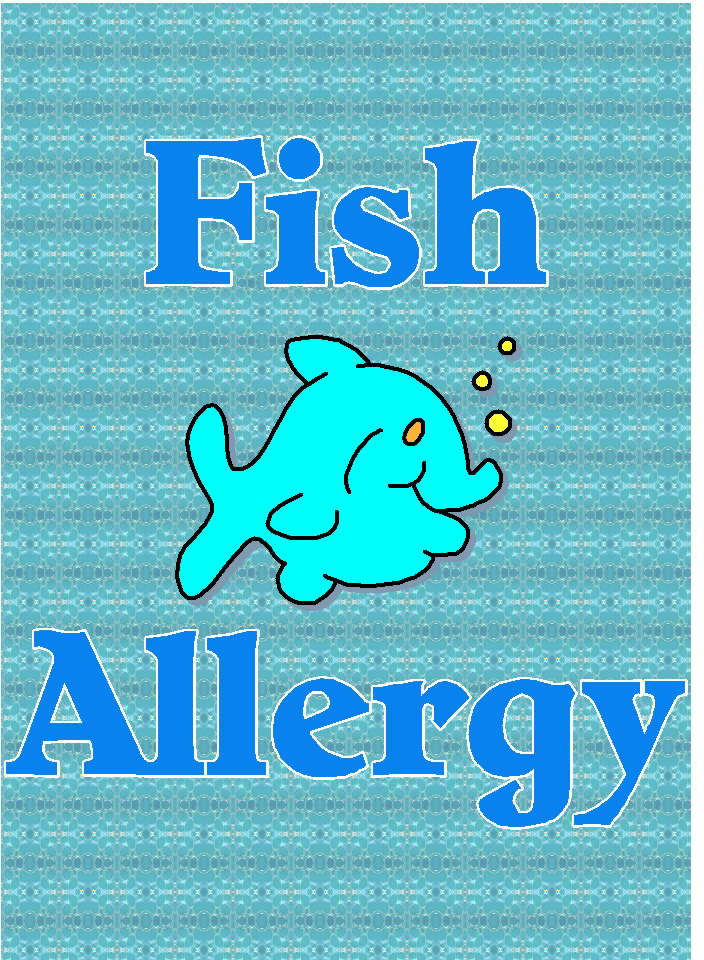 free posters and signs fish allergy