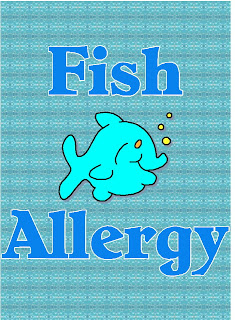 Free posters and signs fish allergy for Allergic to fish