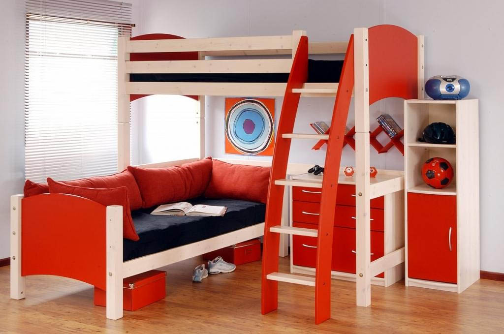 Kids modern bed designs an interior design for Modern kids bunk beds